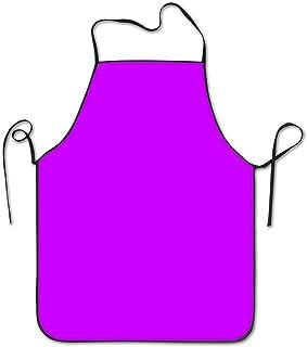 Neon Purple Adjustable Bib Apron for Women Men Quality Cooking Kitchen Aprons for Cooks BBQ Restaurant