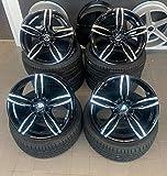 4 x 18 Zoll Damina Performance DM03 Alu Felgen 8x18 5x120 ET35 schwarz poliert für 5er F10 F11 6er F13 F12 F06 X1 E84 X3 E83 F25 X4 F26 X5 E53 Z3 Z4 E85 M-Paket M-Performance CSL NEU