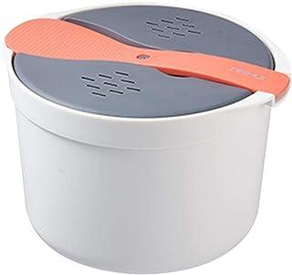 juman634 Olla Arrocera Microondas Olla Arrocera Cocina Multifunción Vapor con Tapa De Filtro, Cocina Casera Vapor Cocina Cocinar Arrocera