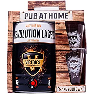 Victor's Drinks Revolution Lager Pub At Home - Make Your Own Beer Gift Set