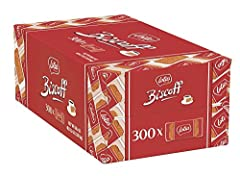 Contains 300 - 0.2 Ounce Individually Wrapped Cookies Non GMO, RSPO Certified Palm Oil, No Artificial flavors, colors, or preservatives. Vegan friendly. Does not contain nuts. Made in Belgium in a nut free facility. Has a unique taste and crunchy bit...