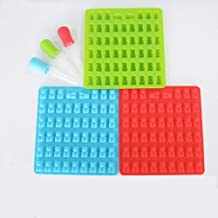XIAOJIE Little Bear Shape Silicone Mold for Cake Candy Chocolate Making 53 Holes red