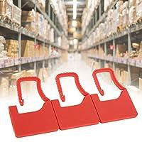 100個プラスチックセルフロックラベルプラスチックシール使い捨てプラスチックロックシューズバッグスーツケース家庭用(red)