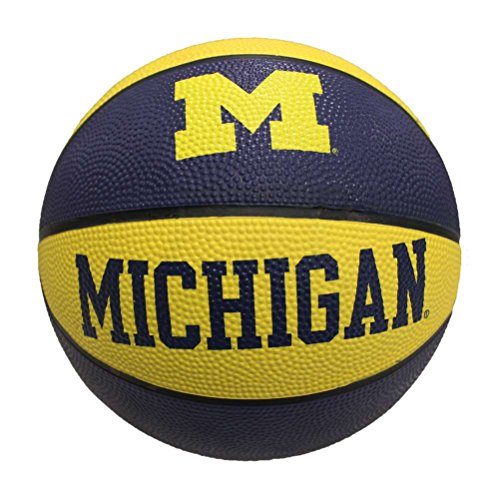 New Michigan Wolverines Mini Rubber Basketball