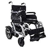 wheelchair Silla de ruedas eléctrica plegable (controlador del lado derecho) - Silla de ruedas eléctrica compacta con ayuda de movilidad, velocidad 1-8 km/h, carga máxima 120 kg - transporte negro