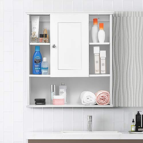 Great Features Of kealive Bathroom Wall Cabinet, 7'' Deep Wall Mounted Bathroom Storage Cabinet ...