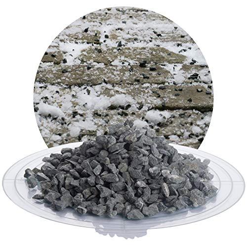 umweltfreundlicher Streusplitt aus Diabas Gestein, 25 kg Winterstreugut, reines Naturprodukt, salzfrei, sehr robust, verschiedene Körnungen: fein/grob/mittel (Diabas Streusplitt, 5-8 mm)