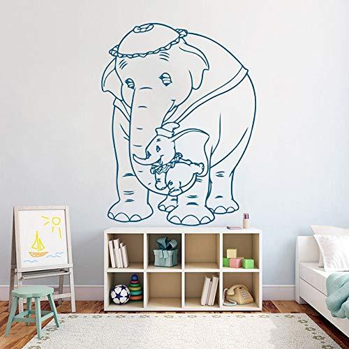 zqyjhkou Fliegende Elefanten Wandaufkleber Kindergarten Kinder Mädchen Zimmer Cartoons Muster Vinyl Wandtattoo Wohnzimmer Schlafzimmer Home Decor48x63cm