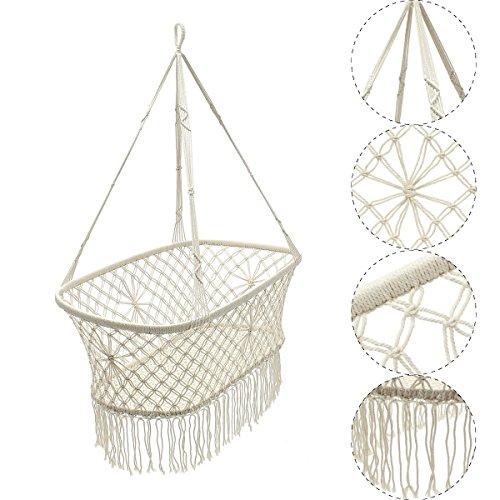Cradle-Hängematte, beruhigt Säuglingsschlaf-hängende Schwingenbaby-Krippe 90 * 87 * 57cm