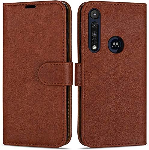 Hülle Collection Hochwertige Leder hülle für Motorola Moto G8 Power Lite Hülle (6,5