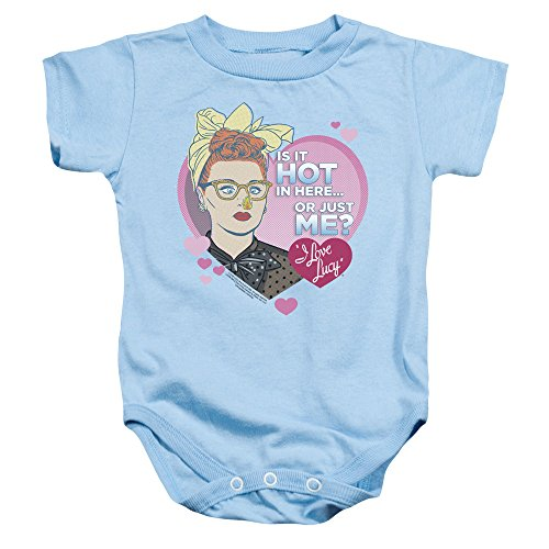 I Love Lucy - - Toddler Hot Onesie, 6 Months, Light Blue