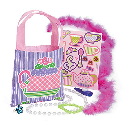 For Sale! Fun Express - Tea Party Filled Treat Bag (8pc) for Birthday - Party Supplies - Pre - Fille...