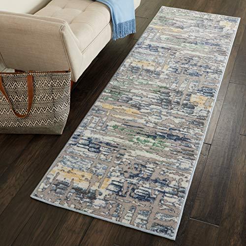 Marca de Amazon - Movian Archar, alfombra rectangular, 221 de largo x 66 cm de ancho (diseño geométrico)