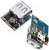 DIANLU43 2 unids 5V litio cargador de batería paso a paso de protección Boost Módulo de potencia Micro USB Li-PO Li-Ion 18650 Power Bank Cargador Tablero DIY SPOT STEERMODUL Rendimiento estable