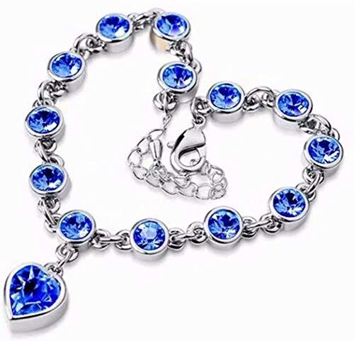 Charm Yoga Pulsera o Collar Pulsera de Tenis Joyería Elegante diseño de Mujeres Pulsera Colgante (Color : Blue)