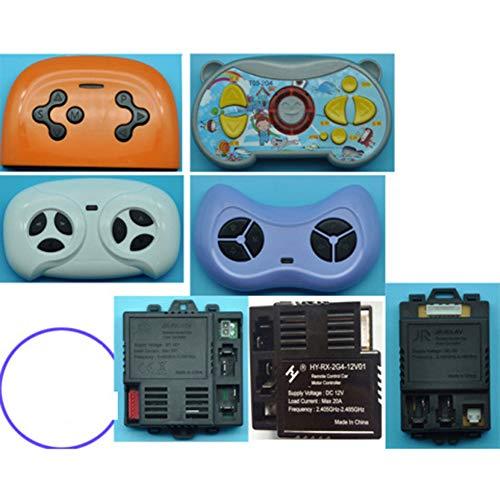 BeesClover für JR-RX HY-RX-2G4 Kinder Elektrische Auto Fernbedienung Kinderwagen Universal-Bluetooth-Fernbedienungsempfänger Zubehör Praktisches Leben 2 White Remote Control