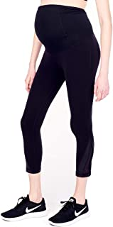 Women's Maternity Activewear Mesh Leggings with Crossover Panel