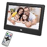 Marco de Fotos Digital, 1024 x 600 Pantalla LED de 7'HD Alarma de Marco de Fotos eléctrico con función de música/Video/Libro electrónico/Reloj/Calendario(EU Plug)