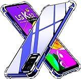 ivoler Klar Silikon Hülle für LG K52 / LG K62 mit Stoßfest Schutzecken, Ultra Dünne Weiche Transparent Schutzhülle Flexible TPU Durchsichtige Handyhülle Kratzfest Hülle Cover