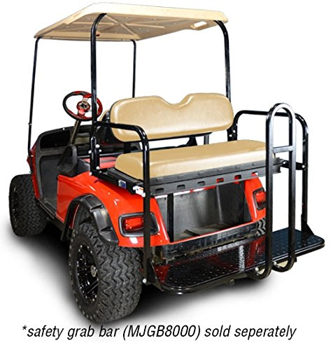 Price comparison product image Madjax 01-007 Genesis 150 Rear Flip Seat kit for 1994-Up EZGO TXT Golf Carts Tan Cushions