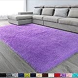 Purple Soft Area Rug for Bedroom,5x8,Fluffy Rugs,Lavender Rug for Girls Room,Furry Rugs for Nursery Room,Shaggy Rug for Kids Baby Room,Dorm,Big Rug,Shag Rugs,Non-Slip Rug,Fuzzy Rugs,Purple Carpet