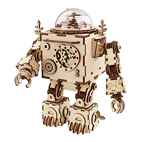 Think Gizmos Musical Robot Building Kit - Wooden...