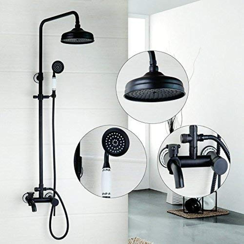 Cxmm Duscharmatur Vollkupfer Schwarz Doppelgriff Mit Wasserbad Duscharmatur Duschset