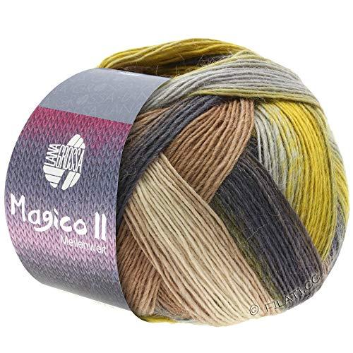 Wooob Lana Grossa Meilenweit 100 Magico II Socken-Wolle mit Farbverlauf und Herz in 3571