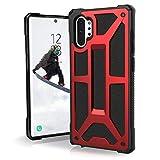 Urban Armor Gear Monarch Funda para Samsung Galaxy Note 10 Plus Carcasa con estándar Militar Estadounidense (Compatible con la versión 5G, Compatible con inducción, Cuero) - Rojo