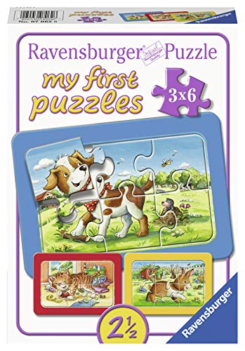 Ravensburger Kinderpuzzle 07062 - Meine Tierfreunde - My first puzzle - Rahmenpuzzle