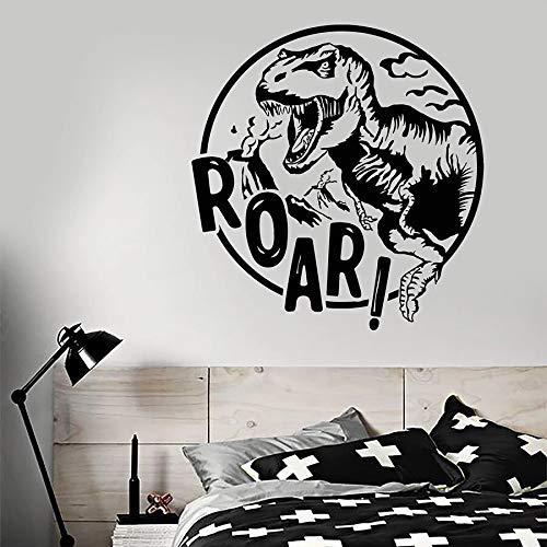 Tianpengyuanshuai Brüllende Worte Wandtattoo Dinosaurier Kind Junge Schlafzimmer Kinderzimmer Dekoration Vinyl Fenster Aufkleber Wandbild 102x106cm