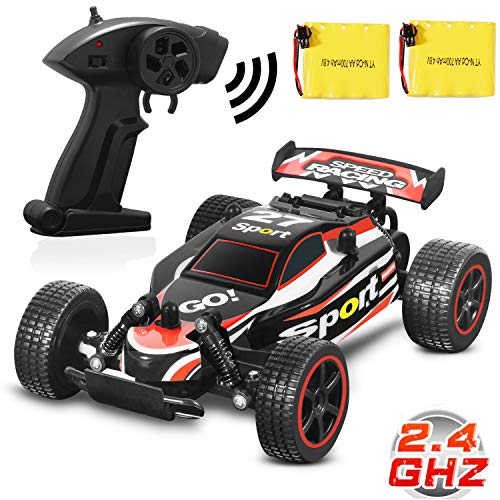 Blexy RC Racing Cars 2.4Ghz High Speed Rock Off-Road Vehicle 1:20 2WD Radio Remote Control Racing Toy Cars Electric Fast Race Buggy Hobby Car Green 211 (Red)