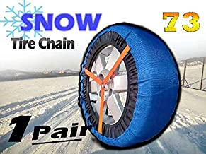 HZYICH 2pcs Anti-Skid Safety Ice Mud Tires Snow Chains Auto Snow Chains Fabric Tire Chains on Ice and Anowy Road (AT-SB73)