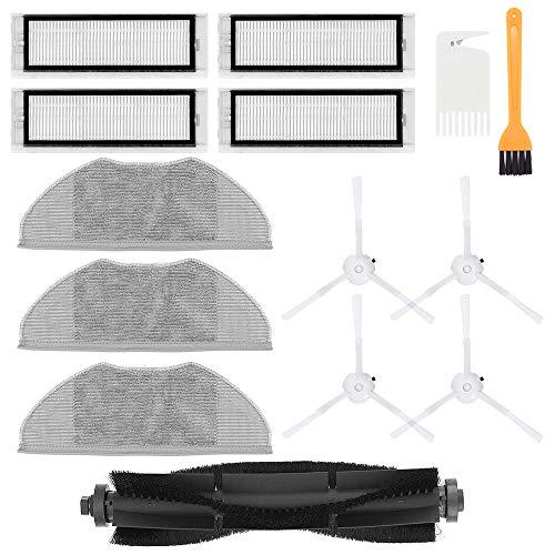 DingGreat Zubehör für 360 Saugroboter, 1 Hauptbürste & 4 Seitenbürsten & 4 HEPA Filters & 3 Mikrofasermopptuch Ersatzteile für 360 S7 S5 Staubsauger Roboter