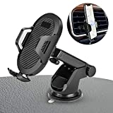 Car Phone Mount - Universal Vehicle Dashboard Cellphone Holder, Windshield Air...