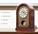 MingXinJia Relojes de Cabecera para el Hogar Reloj de Repisa de Péndulo,...