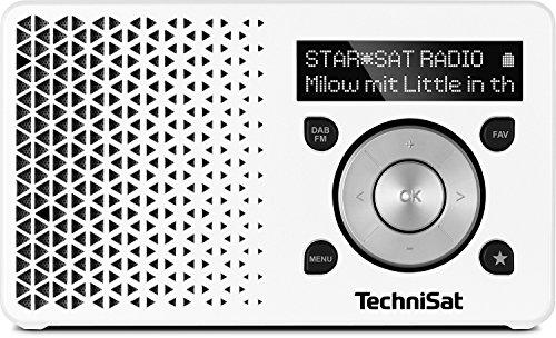 Sony XDR-S41D Digitalradio (DAB+, FM, RDS, Wecker) & TechniSat DIGITRADIO 1 - tragbares DAB+ Radio mit Akku, weiß/Silber