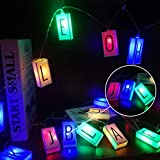 LED Letter Light Box String (78.7in 20led) Glow in The Dark DIY Letter Combination Sign,Happy...