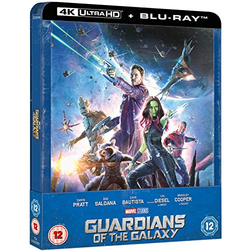 Guardians Of The Galaxy 4K ULTRA HD Limited Edition Steelbook / Includes 2D Blu Ray / Import / REGION FREE