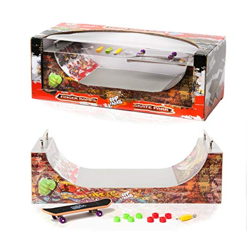 Grip & Tricks - RAMPE FÜR FINGER SKATE - FUNBOX & STAIRS - Fingerboard - Cruiser Board - Mass : 28 X 12 X 10 cm