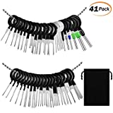 PACETAP Terminal Ejector kit,41PCS Terminal Removal Tool kit for Car, Pins Terminals Puller Repair Removal Key Tools,Pin Extractor Electrical Wiring Crimp Connectors Key ,Extractor Connectors Depinning Tool Set +1 storage bag