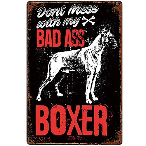TINBG Dad Ass Boxer New Sign Plaque Poster Wall Vintage Art Sign Use Anywhere 20x30cm