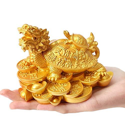 Décoration de Tortue, Feng Shui Dragon Tortue Statue Figurin