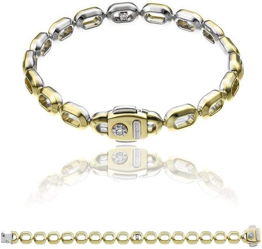 Chimento,bracciale per donna oro giallo e oro bianco 18 kt (11,7gr),impreziosito da un diamante bianco 0,12 ct 1B10252B10180