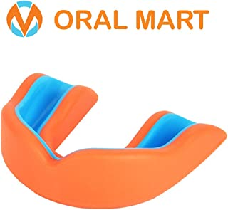 Oral Mart Adult Sports Mouth Guard (8 Best Colors, USA Flag, Vampire Fangs) - Adult Mouthguard for Football, Boxing, Karate, Martial Arts, Rugby, MMA, Sparring, Hockey (/w Vented Case)