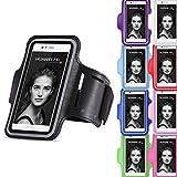 Handy Tasche kompatibel für Huawei P10 Jogging Hülle Sportarmband Fitnesstasche Lauf Cover Hülle, Farben:Schwarz