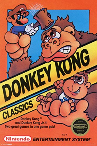 Pyramid America Donkey Kong Classics Super Ninetendo NES Video Game Series Box Art Mario Print Cool Wall Decor Art Print Poster 12x18