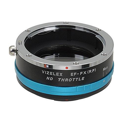 Vizelex ND Throttle Fotodiox Pro Adaptador de Lente, Canon EOS EF Lente a Camara Fotografica Fujifilm X con Filtro Variable ND2-ND1000