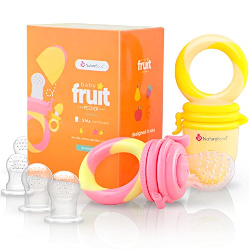 NatureBond Baby Food Feeder/Fruit Feeder Pacifier - Infant Teething...