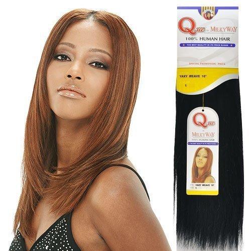 "Milkyway Q 100% Human Hair 10"" #1 Jet Black"